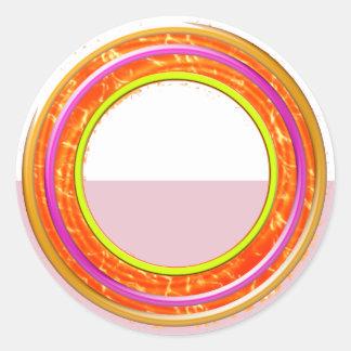 Sombras artísticas del color: Herramientas de Pegatina Redonda