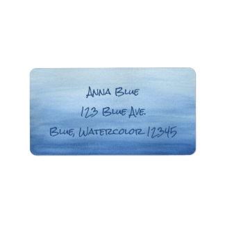 Sombras azules de la pendiente de Ombre del lavado Etiquetas De Dirección