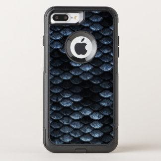 Sombras azules profundas del modelo de las escalas funda commuter de OtterBox para iPhone 8 plus/7 pl