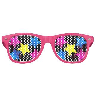 sombras coloreadas bonito de las estrellas gafas de fiesta retro