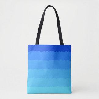 Sombras de la bolsa de asas azul