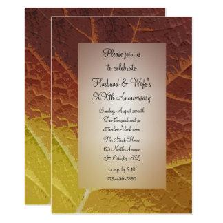 Sombras de la fiesta de aniversario del boda de la invitación 12,7 x 17,8 cm