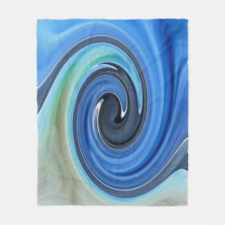 Sombras de la manta azul del paño grueso y suave