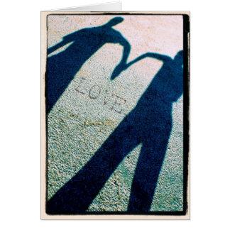 Sombras de la tarjeta del amor