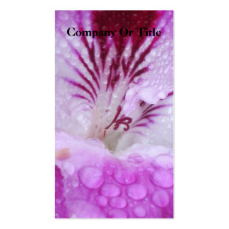 Sombras de la violeta plantillas de tarjeta de negocio