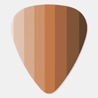 Sombras de las púas de guitarra de Brown Plectro