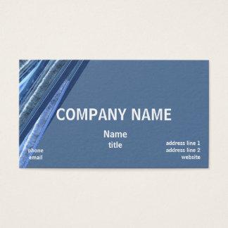 Sombras de las tarjetas de visita azules