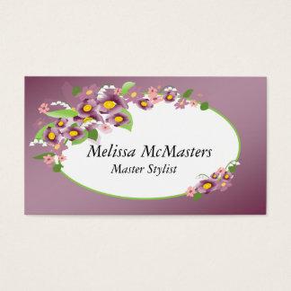 Sombras de las tarjetas violetas de la cita