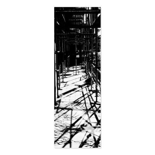 Sombras del andamio tarjeta de visita