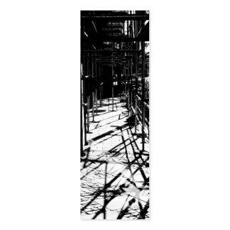 Sombras del andamio tarjetas de visita mini