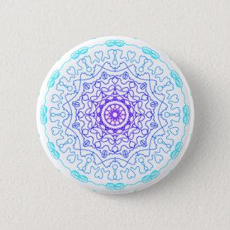 Sombras del azul chapa redonda de 5 cm