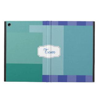 Sombras del azul en squares&rectangles funda para iPad air