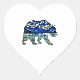 Sombras del azul pegatina en forma de corazón