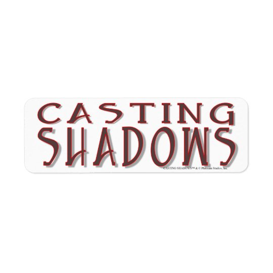 Sombras del bastidor - estudios del platino etiqueta de remite