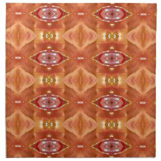 Sombras del diseño festivo moderno del melocotón servilleta de tela