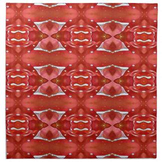 Sombras del diseño festivo moderno rojo servilleta de tela
