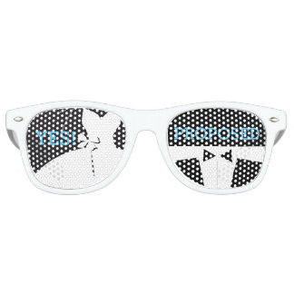 Sombras del fiesta de compromiso gafas de fiesta retro