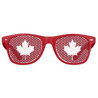 Sombras del fiesta de la hoja de arce de Canadá Gafas De Fiesta Retro