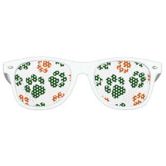 Sombras del fiesta de la impresión de la pata del gafas de sol
