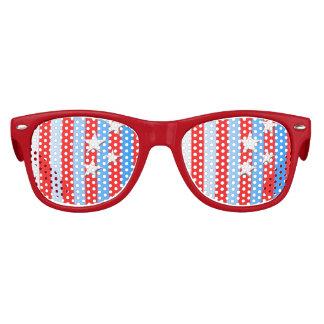 Sombras del fiesta de las rayas de n de las gafas de fiesta retro