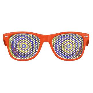 Sombras del fiesta de los niños de los remolinos gafas de fiesta retro