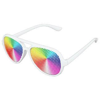 sombras del fiesta del arco iris gafas de sol