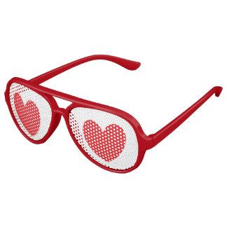 Sombras del fiesta del corazón gafas de sol