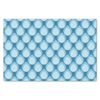 Sombras del modelo geométrico de la lágrima azul papel de seda