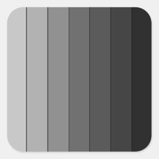Sombras del modelo gris de las rayas elegante pegatina cuadrada