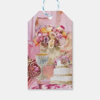 Sombras del rosa etiquetas para regalos
