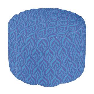Sombras del taburete moderno azul del modelo de la puf
