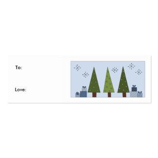 Sombras del verde - etiqueta del regalo tarjetas de visita mini