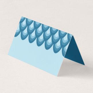 Sombras elegantes de geométrico azul tarjeta de asiento