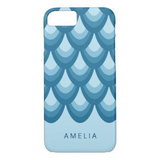 Sombras elegantes del modelo geométrico azul funda para iPhone 8/7