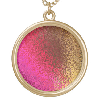 Collar Dorado Sombras en collar redondo brillante del oro rosado