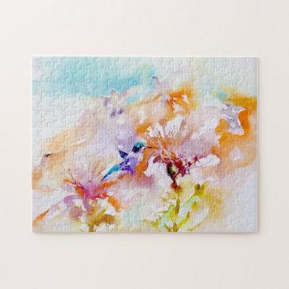 """""""Sombras en impresión del colibrí de los pasteles"""" Puzzle"""