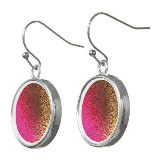 Pendientes Sombras en pendientes abstractos rosados y de