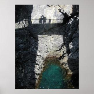 Sombras en yegua del al de Monterosso Póster