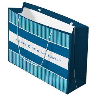 Sombras frescas de w/Personalization azul Bolsa De Regalo Grande