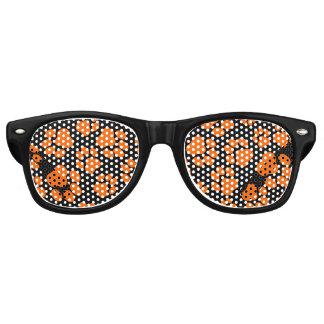Sombras Naranja-y-Negras del fiesta de la Gafas De Sol