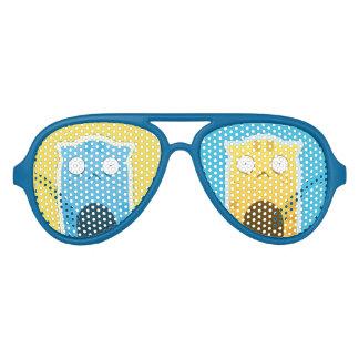Sombras retras adultas del fiesta del gato azul gafas de fiesta de aviador