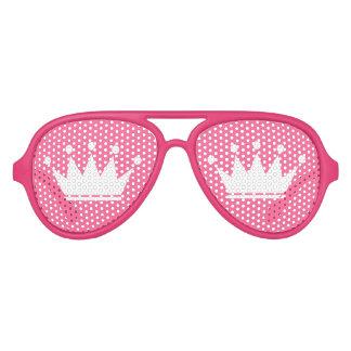 Sombras rosadas divertidas del fiesta con la gafas de sol