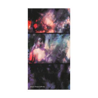 Sombras y Buda ligero 1 impresión de la lona de la