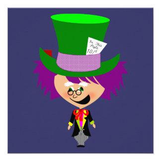 Sombrerero enojado de Toon - las aventuras de Alic Invitación Personalizada
