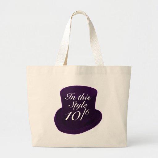 Sombrerero enojado - púrpura bolsa de mano