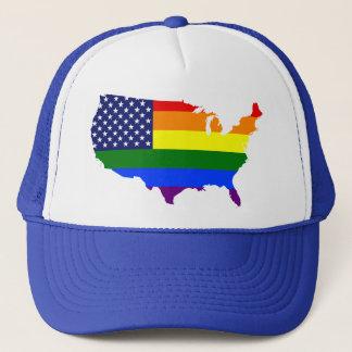 Sombrero adaptable del camionero de América del