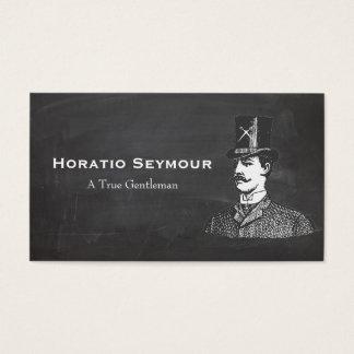 Sombrero de copa con la peluquería de caballeros tarjeta de negocios
