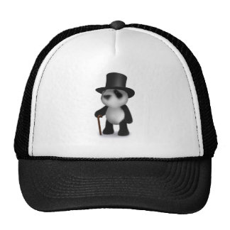 sombrero de copa de la panda del bebé 3d gorro de camionero