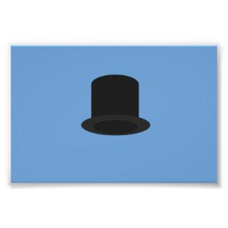 sombrero de copa impresión fotográfica