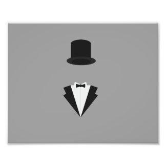sombrero de copa y el fumar impresiones fotográficas